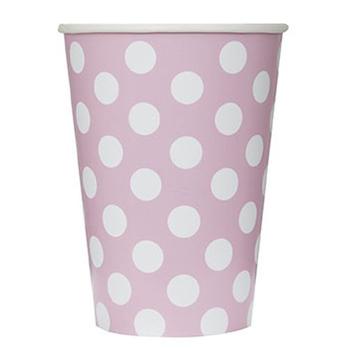 Pale Pink Dots Cups - 341ml - Pack of 6