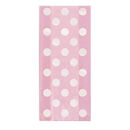 Pale Pink Dots Cello Bags - Pack of 20