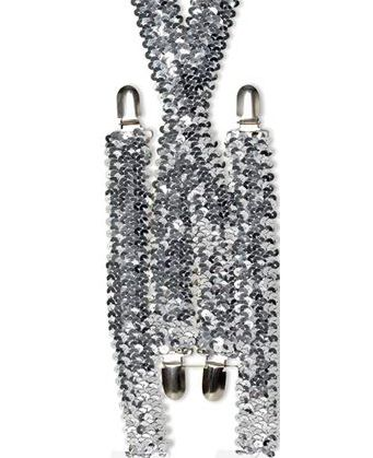 Silver Sequin Braces