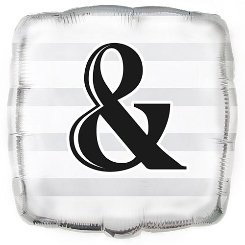 Ampersand & Foil Balloon - 17.5""