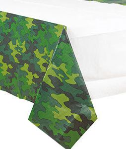 Camouflage Plastic Tablecloth - 2.43m