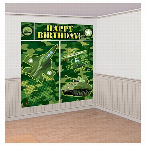Camouflage Scene Setters Wall Decorating Kit - 1.5m - Set of 5