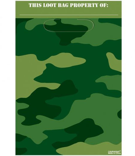 Click to view product details and reviews for Camouflage Folded Party Bags 228cm Pack Of 8.