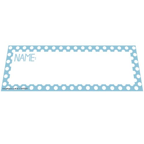 Pale Blue Polka Dot Placecards - Pack of 8
