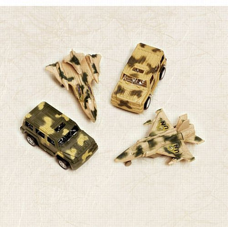 Army Pull Back Vehicle - Assorted Designs - Each