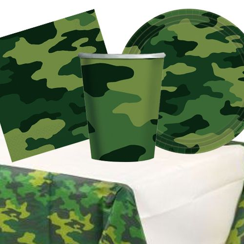 Camouflage Tableware Pack - For 8