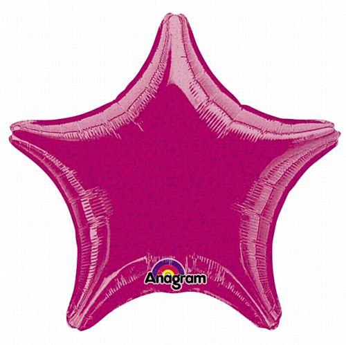 Hot Pink Dazzler Star Foil Balloon - 19""