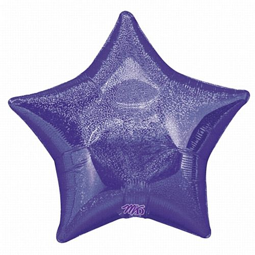 Purple Dazzler Star Foil Balloon - 19""