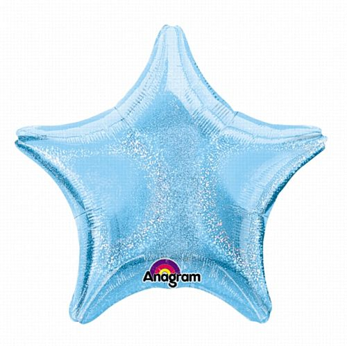 Pastel Blue Dazzler Star Foil Balloon - 19""