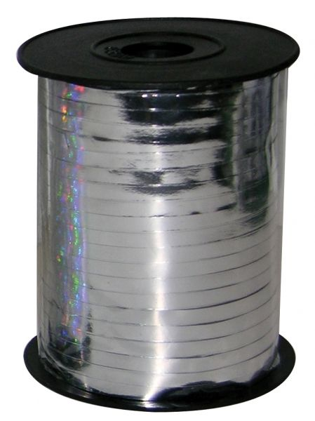 Metallic Silver Balloon Ribbon - 230m