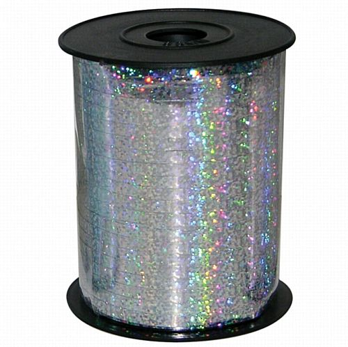 Holographic Silver Balloon Ribbon - 230m