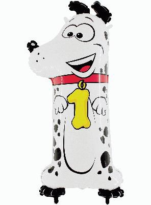 Zooloon Animal Balloon Number 1 Dog - 1m