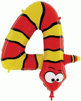 Zooloon Animal Balloon Number 4 Snake - 1m