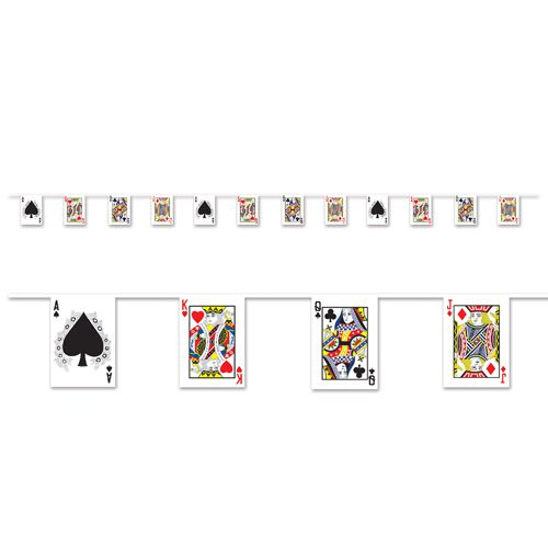 Playing Card Pennant Bunting - All Weather - 3.66m