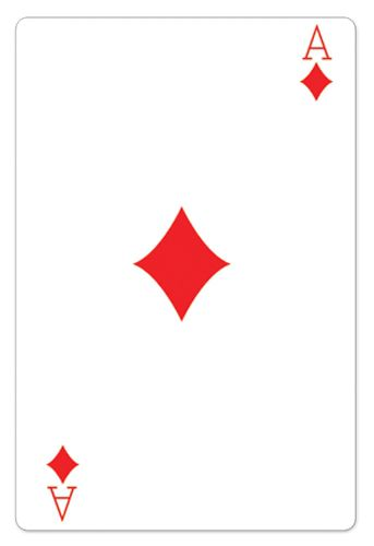 Ace of Diamonds Playing Card Cardboard Cutout - 1.54m
