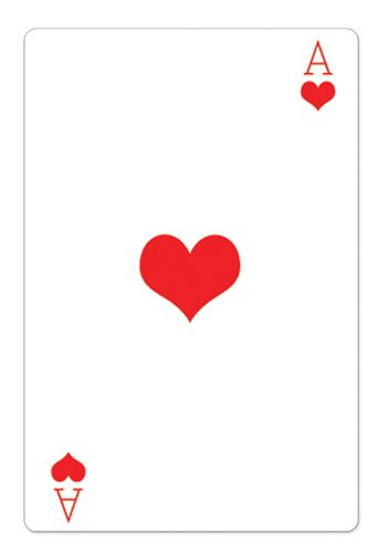 Ace of Hearts Playing Card Cardboard Cutout - 1.54m