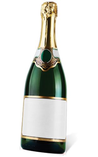 Bottle of Champagne Cardboard Cutout - 1.88m