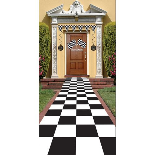 Chequered Floor Runner - 24""