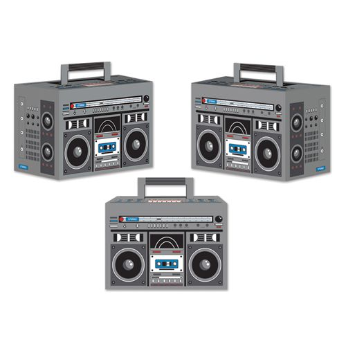 Boom Box Party Boxes - Pack of 3