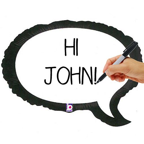 Speech Bubble Foil Balloon - 24""