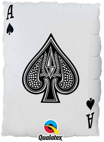 Queen of Hearts and Ace of Spades Giant Foil Balloon - 30""