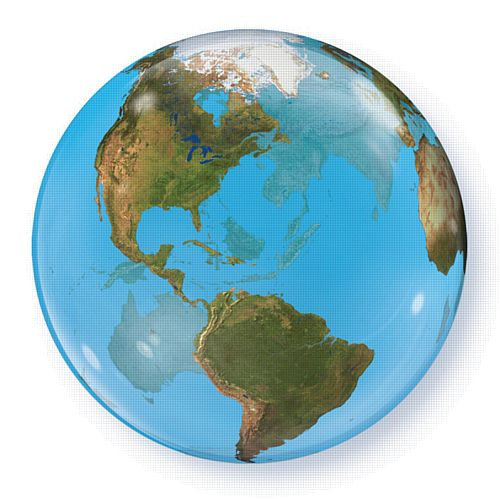 Planet Earth Giant Bubble Balloon - 22""