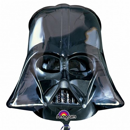 Darth Vader Helmet Supershape Foil Balloon - 25""
