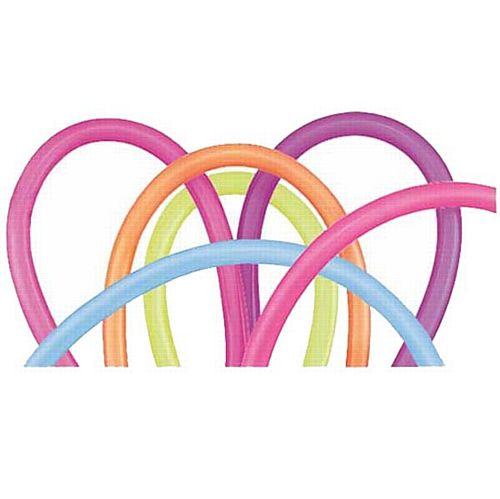 Neon Long Modelling Balloons - 1.52m - Pack of 100
