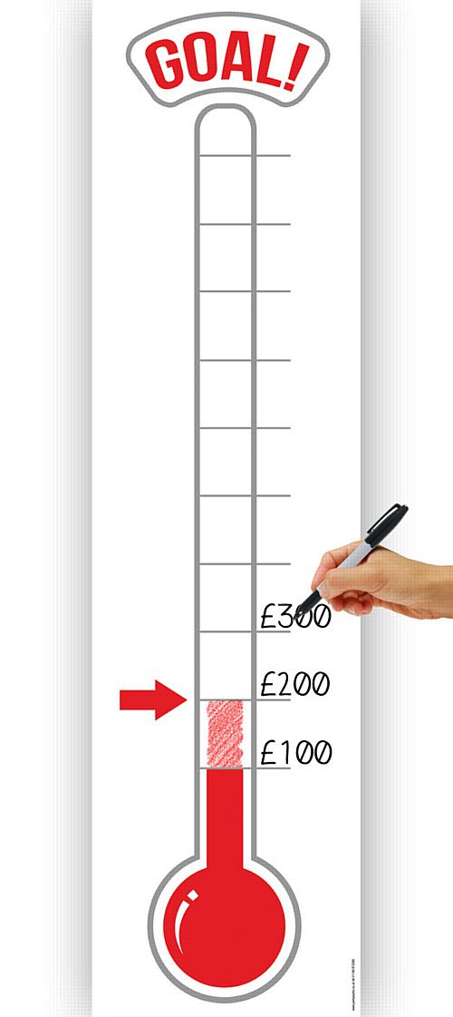 Fundraising Thermometer Banner - 1.2m