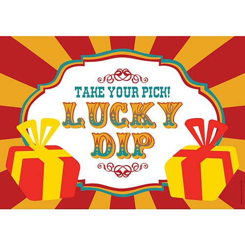 Fundraising Lucky Dip Sign - A3