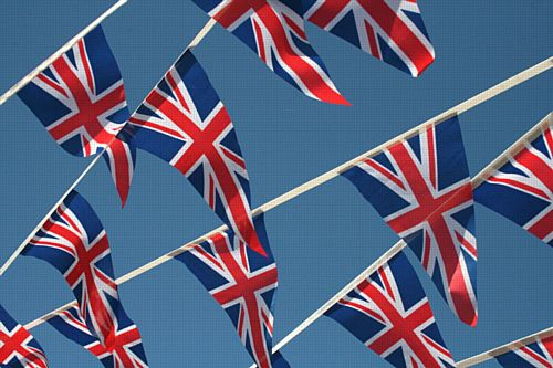 British Union Jack Fabric Pennant Bunting - 20m