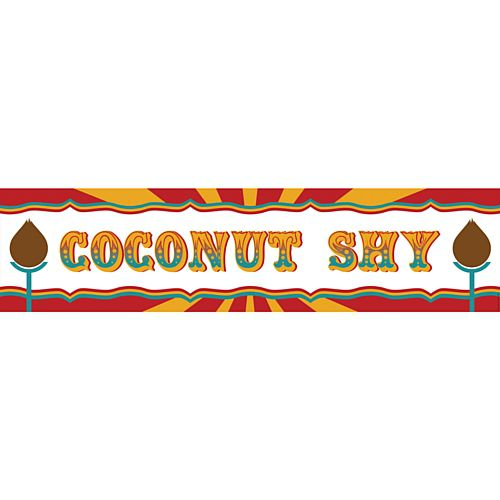 Fundraising Coconut Shy Banner - 1.2m