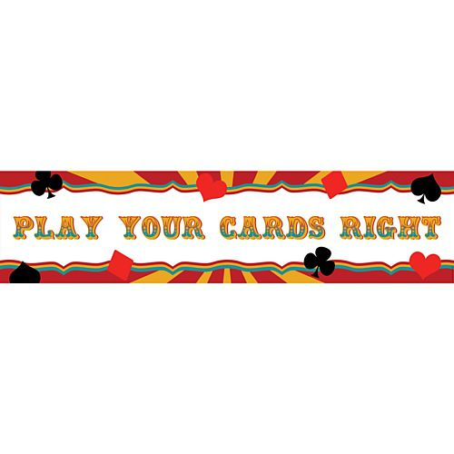 Fundraising Play Your Cards Right Banner - 1.2m
