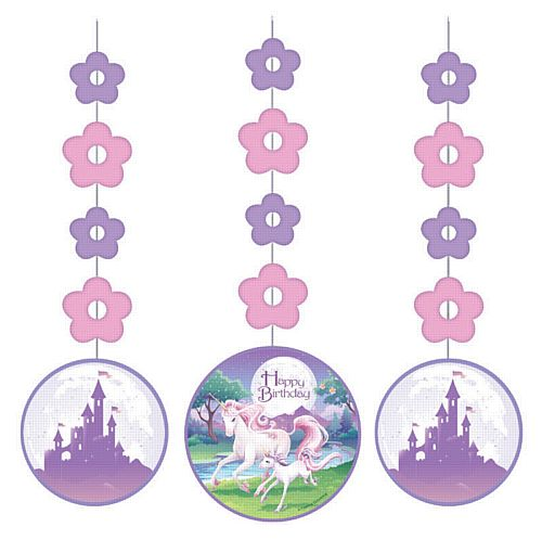 Unicorn Fantasy Hanging Cutouts - 91cm - Pack of 3