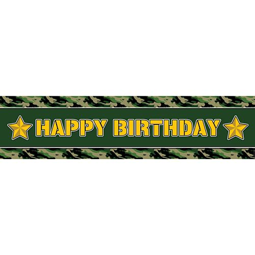 Army Happy Birthday Banner - 1.2m