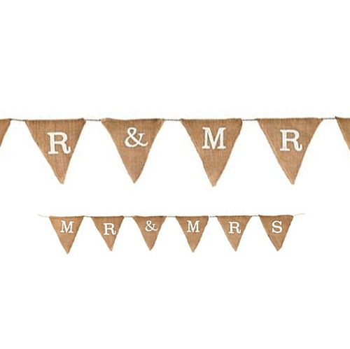 Mr & Mrs Natural Hessian Bunting - 1.8m