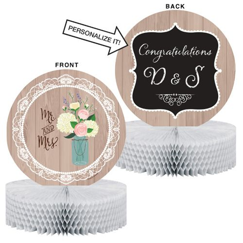 Rustic Wedding Honeycomb Centrepiece - 30cm