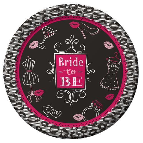 Bridal Bash Dinner Plates - 23cm - Pack of 8