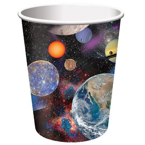 Space Blast Paper Cups - 256ml - Pack of 8