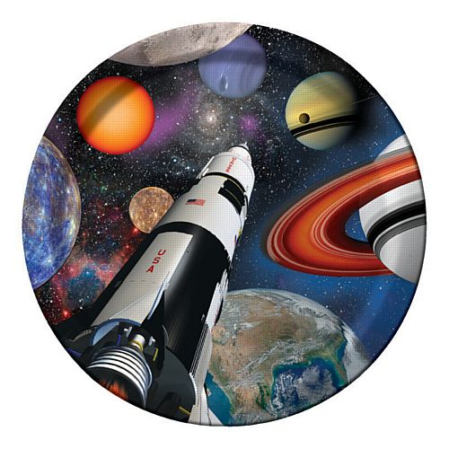 Space Blast Paper Plates - 23cm - Pack of 8