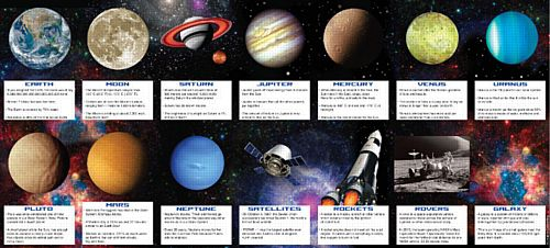 Space Blast Fact Cards - Pack of 14
