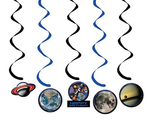 Space Blast Dizzy Danglers - 91cm - Pack of 5