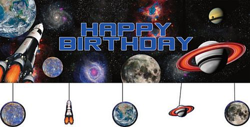 Space Blast Giant Banner with Attachments - 152cm