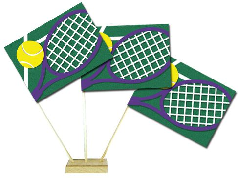 "Tennis Table Flags 6"" on 10"" Pole"