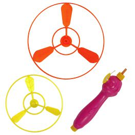 Flying Saucer with Launcher - Assorted Colours