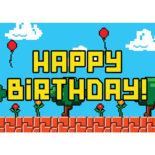 Video Game Happy Birthday Poster - A3