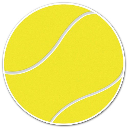 Tennis Ball Vinyl Wall Decoration - 13cm