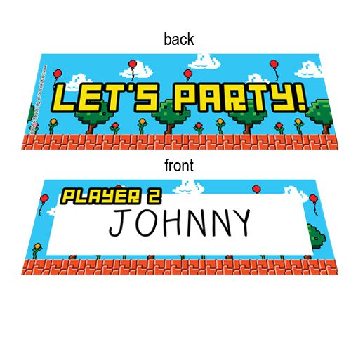 Video Game Placecards - Pack of 8