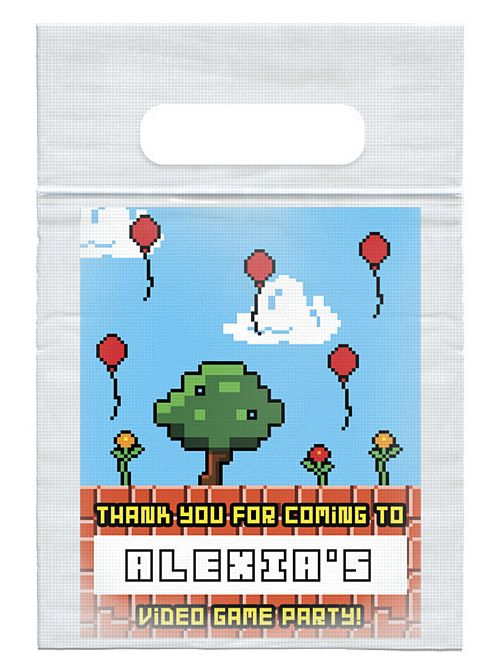 Personalised Video Game Card Insert With Sealed Party Bag - Each