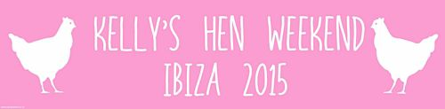 Light Pink Hen Party Personalised Banner - 1.2m